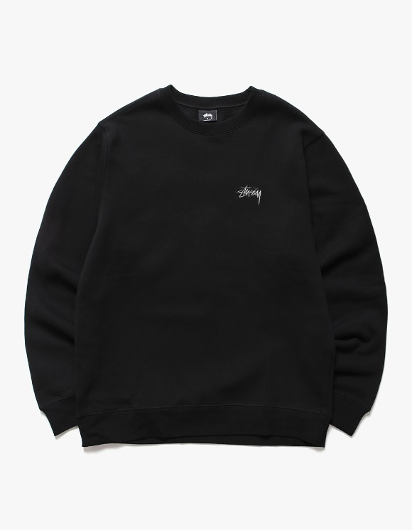 Stussy Stock Logo Crew - Black | HEIGHTS. | International Store