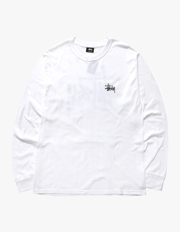Stussy Basic Stussy LS Tee - White | HEIGHTS. | International Store