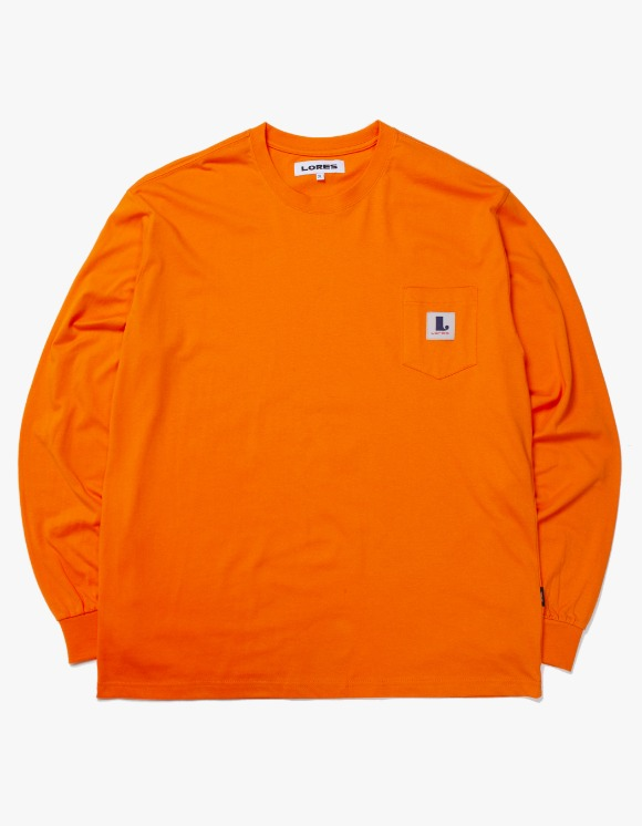 Lores Pocket L/S T-shirts - Orange | HEIGHTS. | International Store