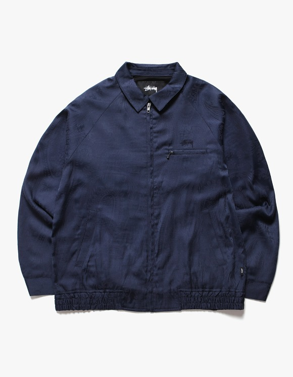 Stussy Bryan Paisley Jacket - Navy | HEIGHTS. | International Store