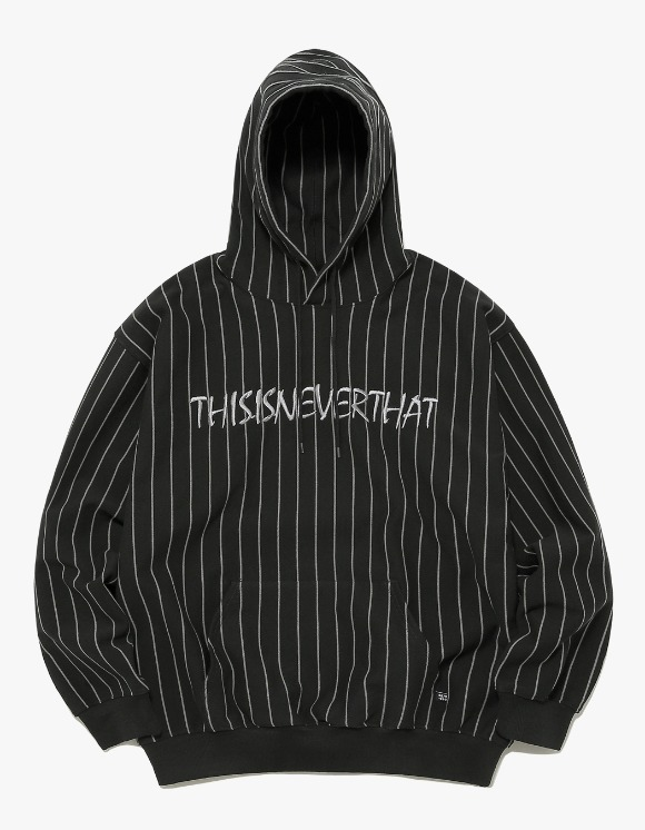 thisisneverthat Marker Script Logo Hooded Sweatshirt - Black | HEIGHTS. | International Store