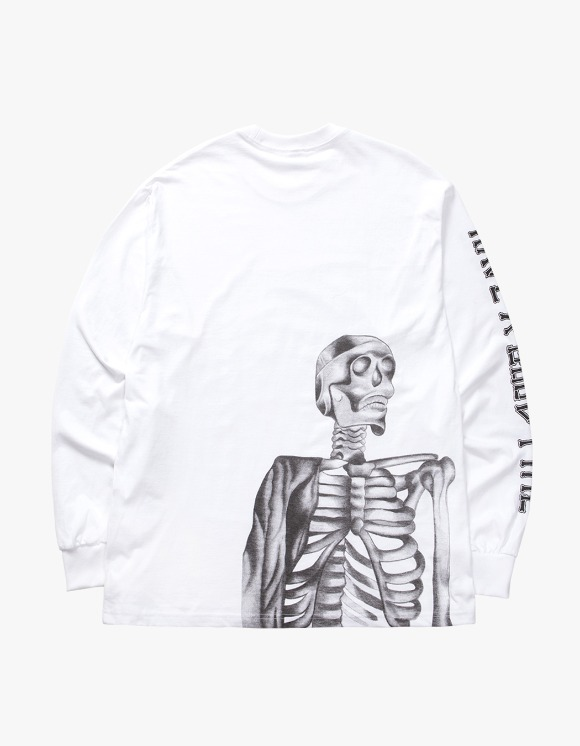 have a good time Bone Logo L/S Tee - White | HEIGHTS. | International Store