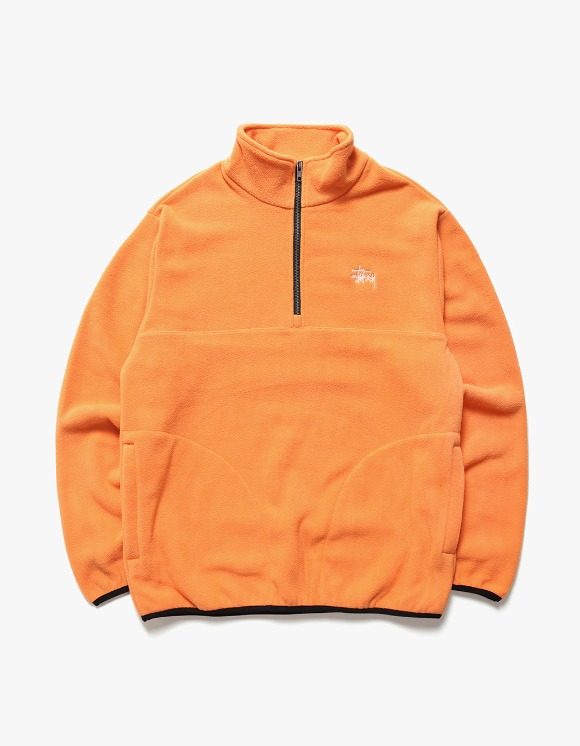 Stussy Basic Polar Fleece Mock - Orange | HEIGHTS. | International Store