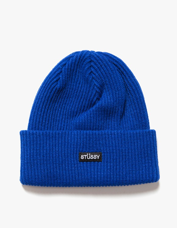 Stussy Small Patch Watch Cap Beanie - Blue | HEIGHTS. | International Store