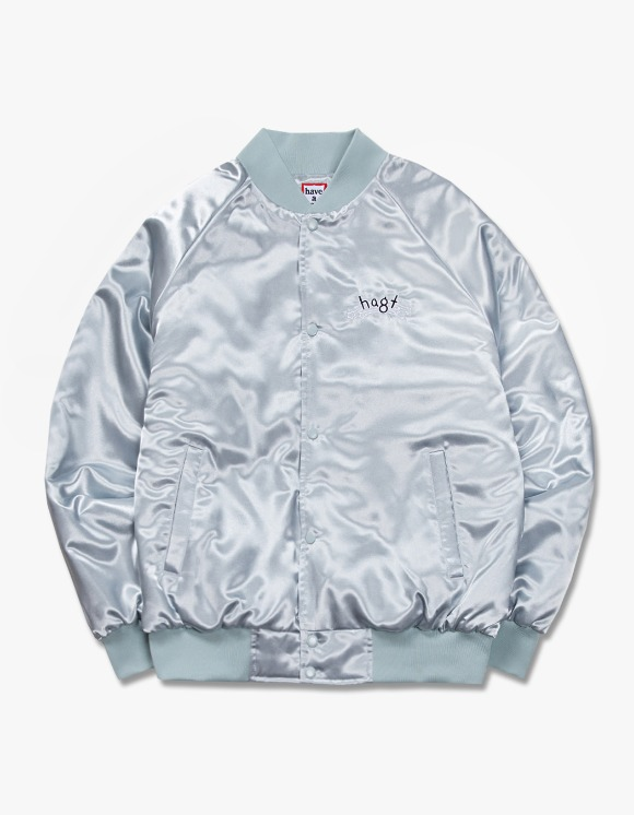 have a good time h.a.g.t Club Stadium Jacket - Silver | HEIGHTS. | International Store