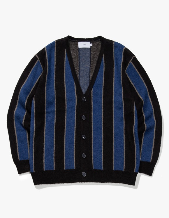 IZOLA NYC Striped Mohair Cardigan - Navy | HEIGHTS. | International Store