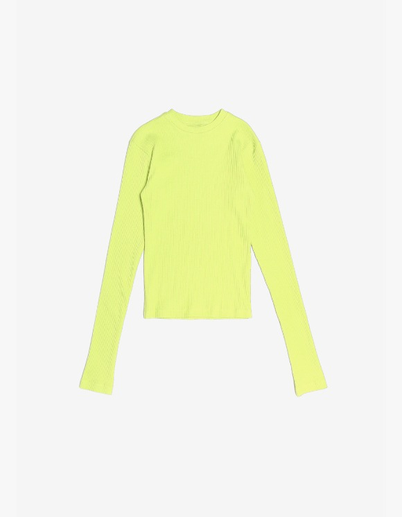 s/e/o Ribbed Slim Tee - Lime Green | HEIGHTS. | International Store