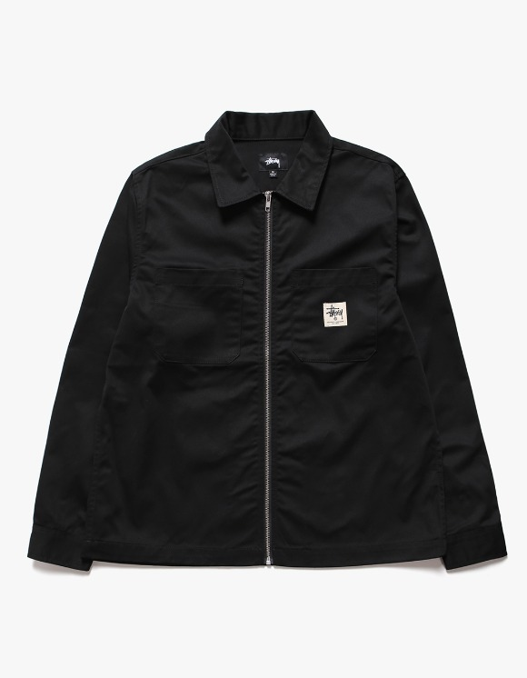 Stussy Zip-up Work LS Shirt - Black | HEIGHTS. | International Store