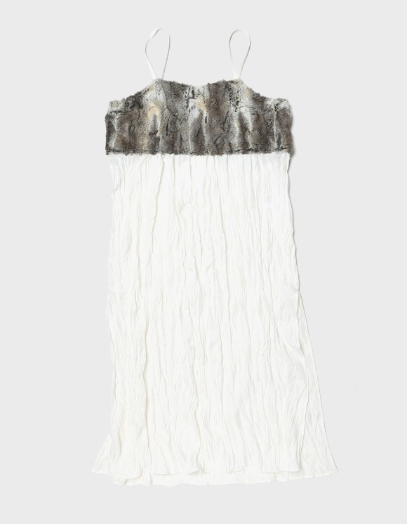 s/e/o Fur Layered Dress - Ecru | HEIGHTS. | International Store
