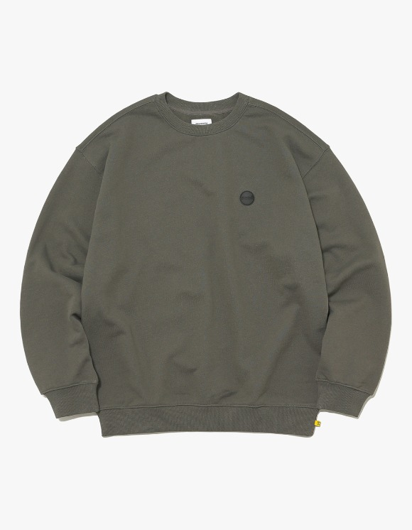 thisisneverthat Rubber C-Logo Crewneck - Dark Olive | HEIGHTS. | International Store