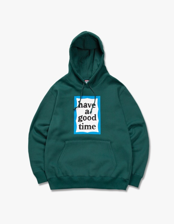 have a good time Blue Frame Pullover Hoodie - Smokey Green | HEIGHTS. | International Store