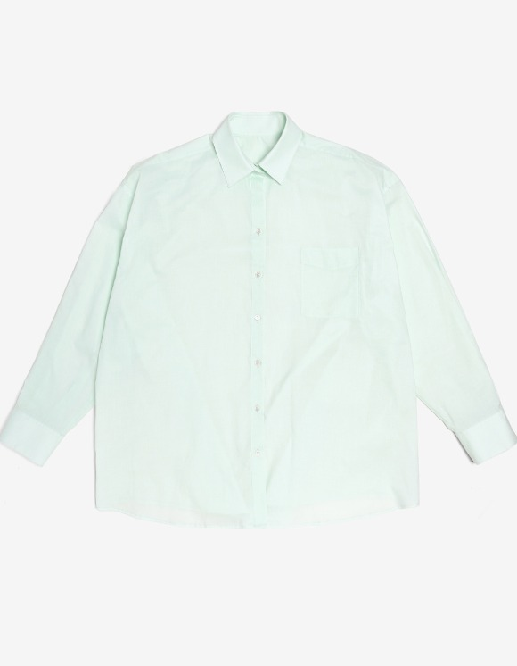 s/e/o Cotton Boxy Shirt - Mint | HEIGHTS. | International Store