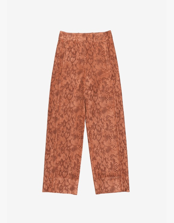 s/e/o Faux Leather Wide Pants(Python) | HEIGHTS. | International Store