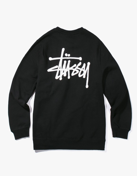 Stussy Basic Stussy Crew - Black | HEIGHTS. | International Store
