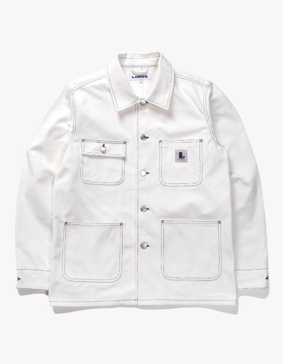 Lores Canvas Chore Jacket - White | HEIGHTS. | International Store