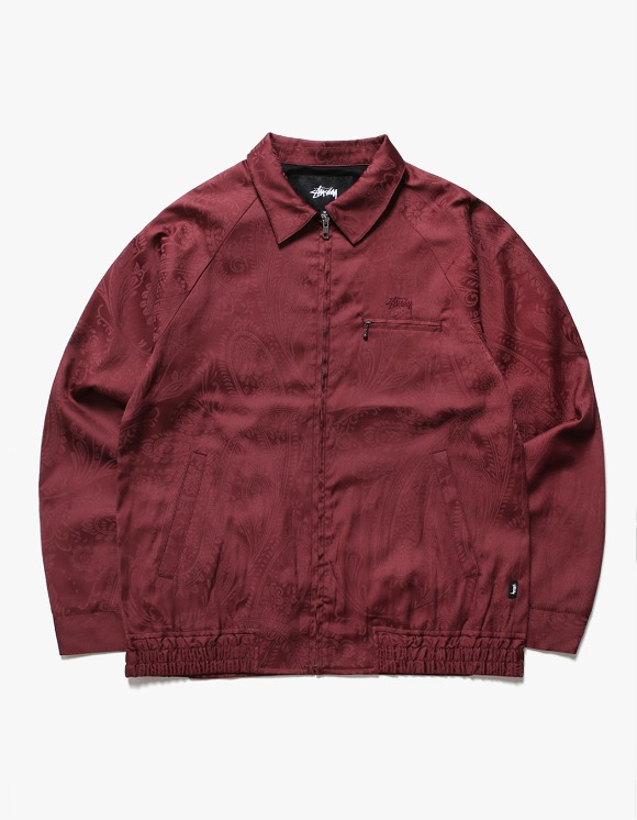 Stussy Bryan Paisley Jacket - Burgundy | HEIGHTS. | International Store