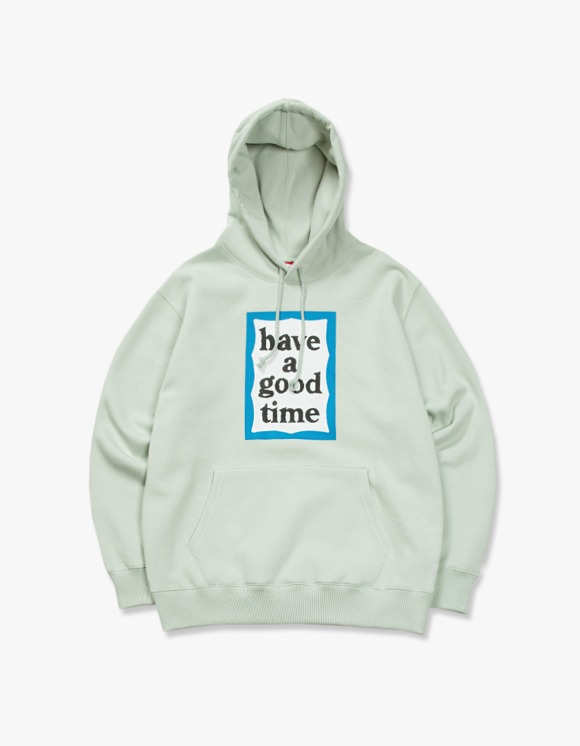 have a good time Blue Frame Pullover Hoodie - Pistachio | HEIGHTS. | International Store