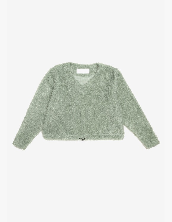 s/e/o Curly Sweater -Sage Green | HEIGHTS. | International Store