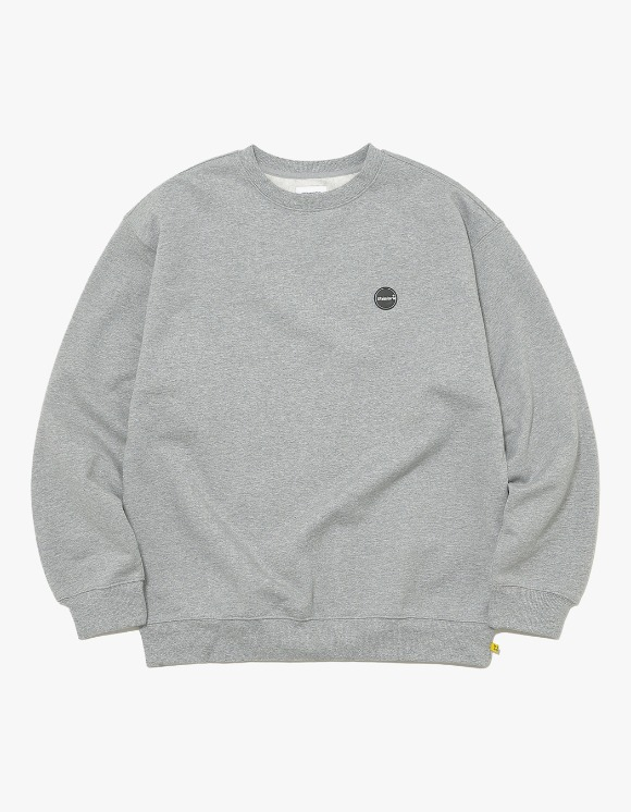 thisisneverthat Rubber C-Logo Crewneck - Grey | HEIGHTS. | International Store