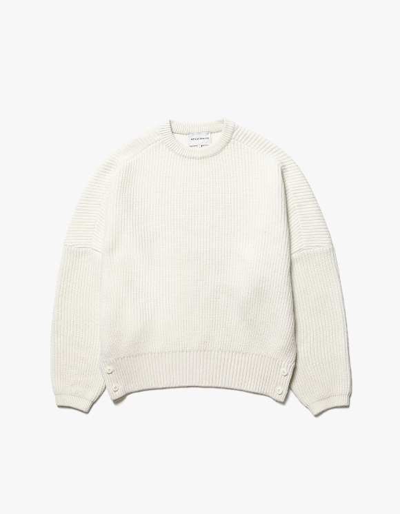 AECA WHITE Air Wool Oversize Knit - White | HEIGHTS. | International Store