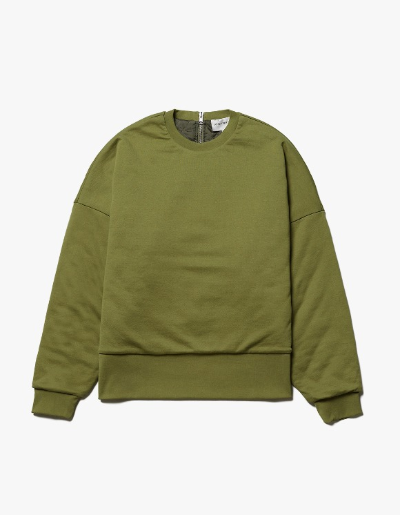 AECA WHITE Reversible Quilted Sweatshirt - Olive | HEIGHTS. | International Store