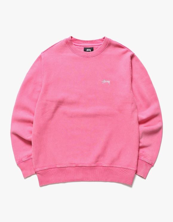 Stussy Stock Logo Crew - Hot Pink | HEIGHTS. | International Store
