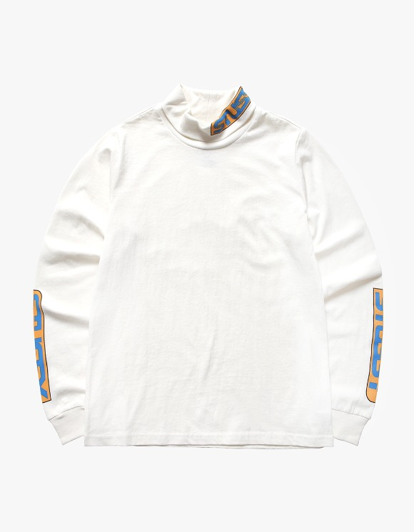 Stussy Shift LS Turtleneck - White | HEIGHTS. | International Store