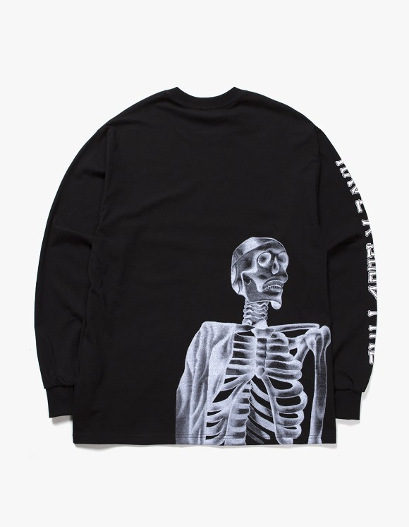 have a good time Bone Logo L/S Tee - Black | HEIGHTS. | International Store