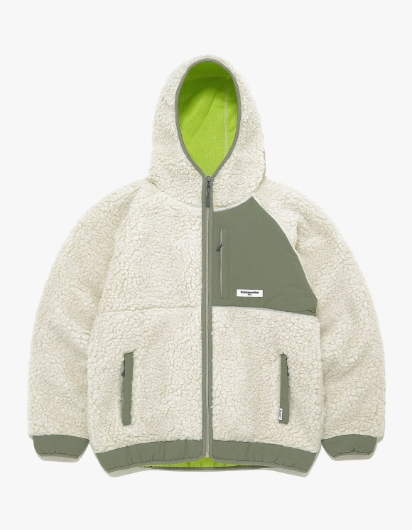 thisisneverthat Hooded Boa Fleece Jacket - Ivory | HEIGHTS. | International Store