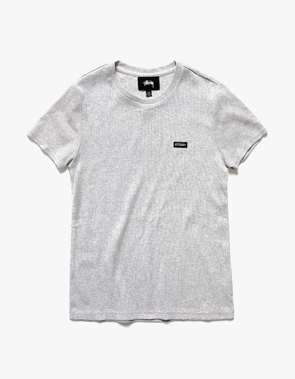 Stussy Town Patch Tee - Heather Grey | HEIGHTS. | International Store