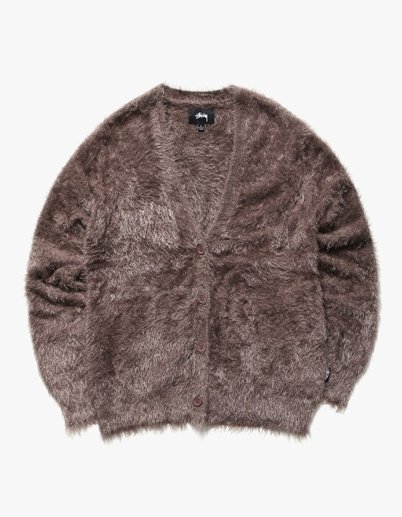 Stussy Menlo Scruffy Cardigan - Mauve | HEIGHTS. | International Store