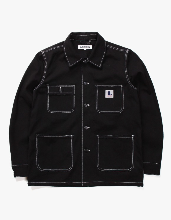 Lores Canvas Chore Jacket - Black | HEIGHTS. | International Store
