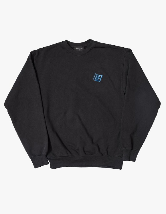 BRONZE56k Embroidered B Logo Crewneck - Black | HEIGHTS. | International Store