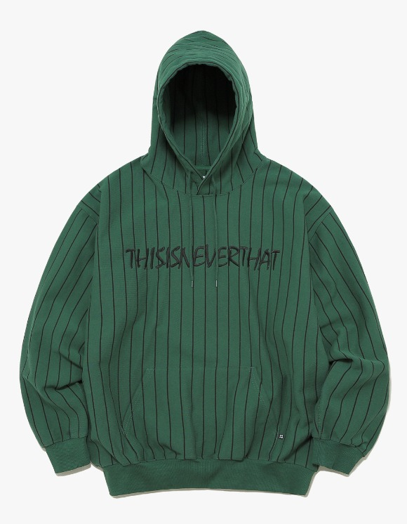 thisisneverthat Marker Script Logo Hooded Sweatshirt - Olive | HEIGHTS. | International Store
