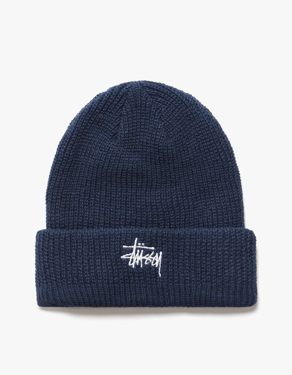 Stussy FA19 Basic Cuff Beanie - Navy | HEIGHTS. | International Store