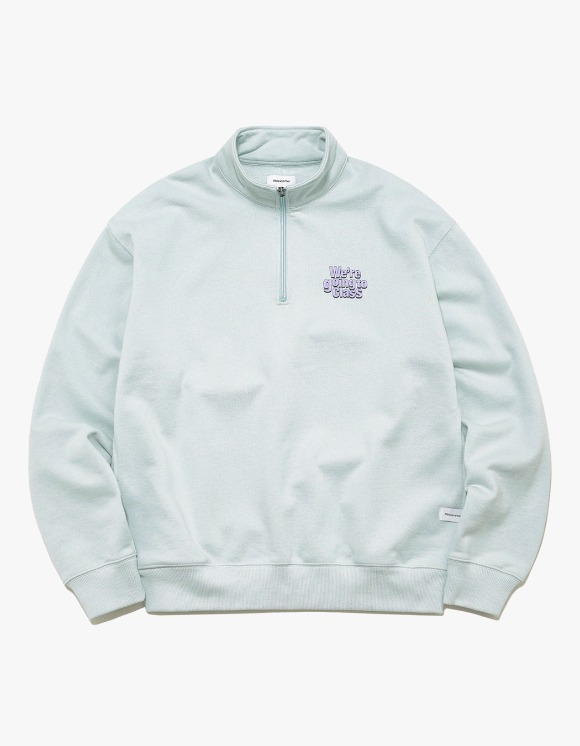 thisisneverthat GOING TO CLASS Half ZIP Pullover - Sky Blue | HEIGHTS. | International Store