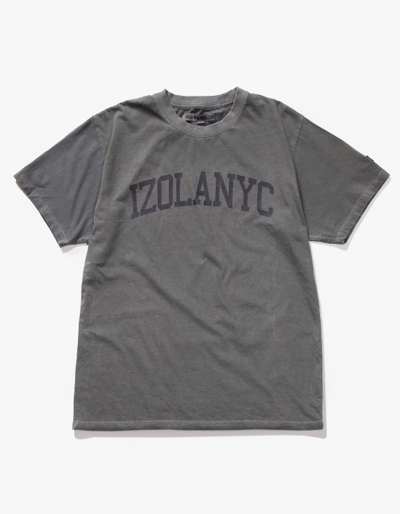 IZOLA NYC Over Dyed College S/S Tee - Charcoal | HEIGHTS. | International Store