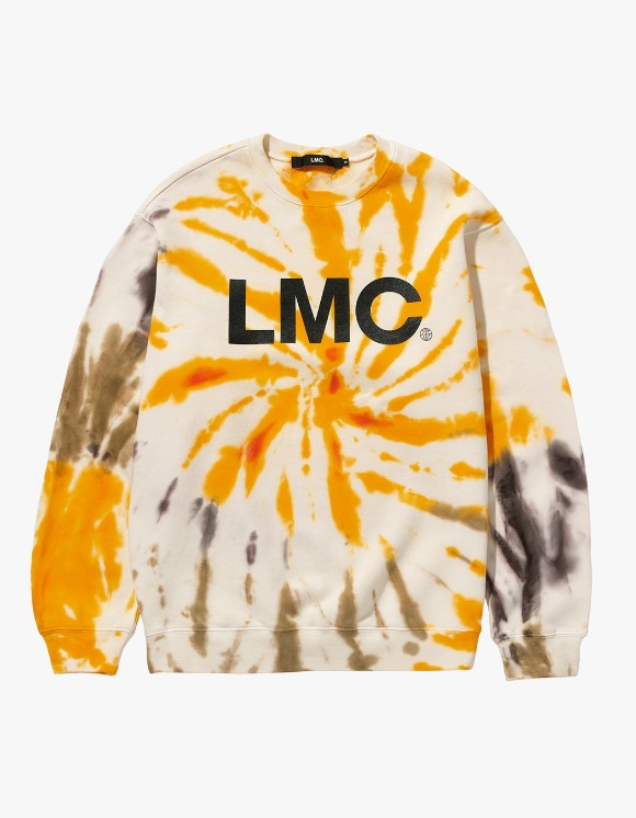LMC LMC TIE DYE OG WHEEL SWEATSHIRT yellow | HEIGHTS. | International Store