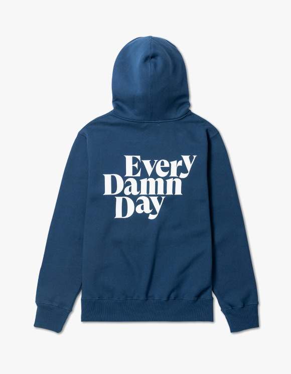 Kompakt Record Bar Every Damn Day Hoodie - Navy/White | HEIGHTS. | International Store