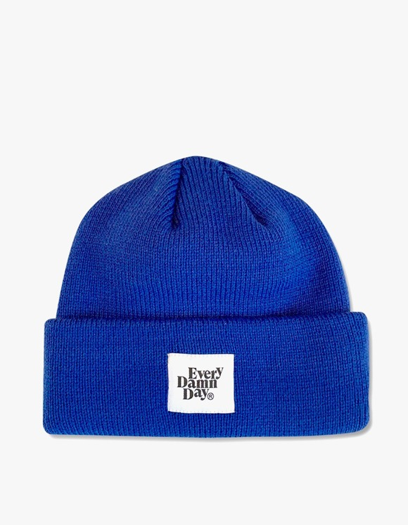 Kompakt Record Bar Every Damn Day Beanie - Blue | HEIGHTS. | International Store