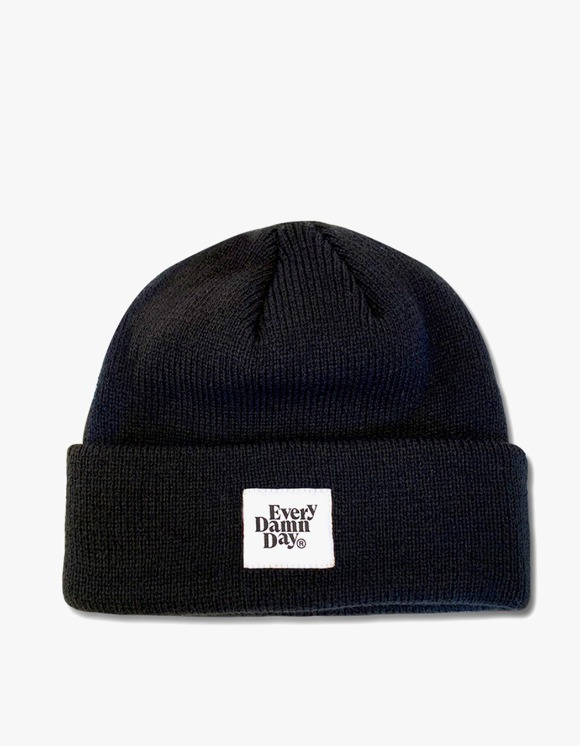 Kompakt Record Bar Every Damn Day Beanie - Black | HEIGHTS. | International Store