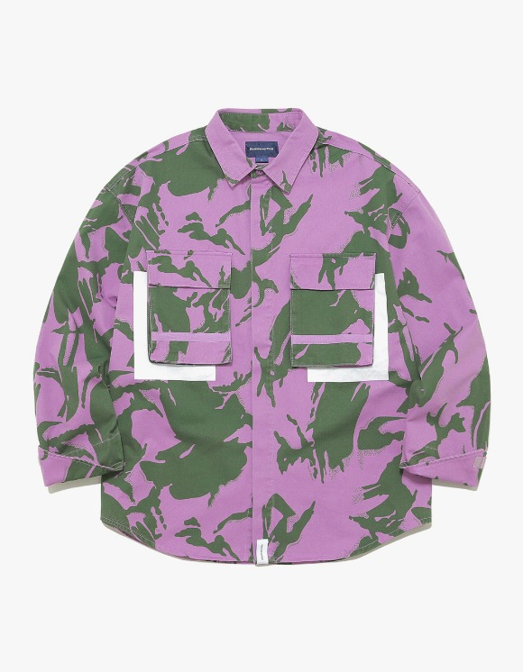 thisisneverthat Jungle Shirt Jacket - Purple Camo | HEIGHTS. | International Store
