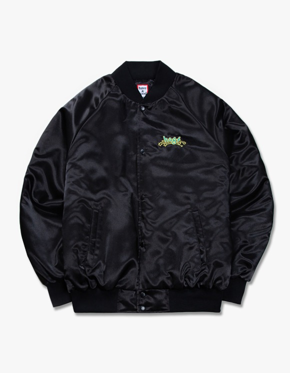 have a good time h.a.g.t Club Stadium Jacket - Black | HEIGHTS. | International Store