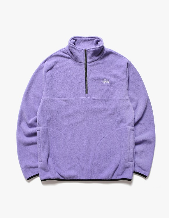 Stussy Basic Polar Fleece Mock - Violet | HEIGHTS. | International Store