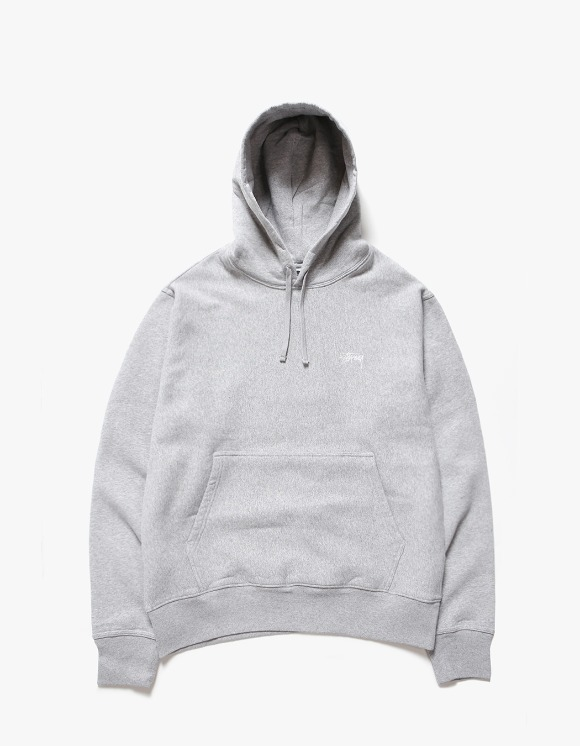 Stussy Stock Logo Hoodie - Heather Grey | HEIGHTS. | International Store