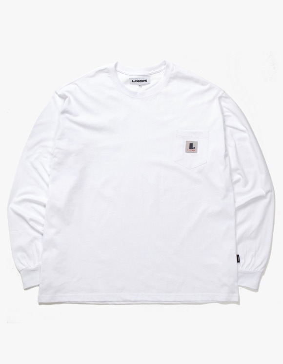 Lores Pocket L/S T-shirts - White | HEIGHTS. | International Store