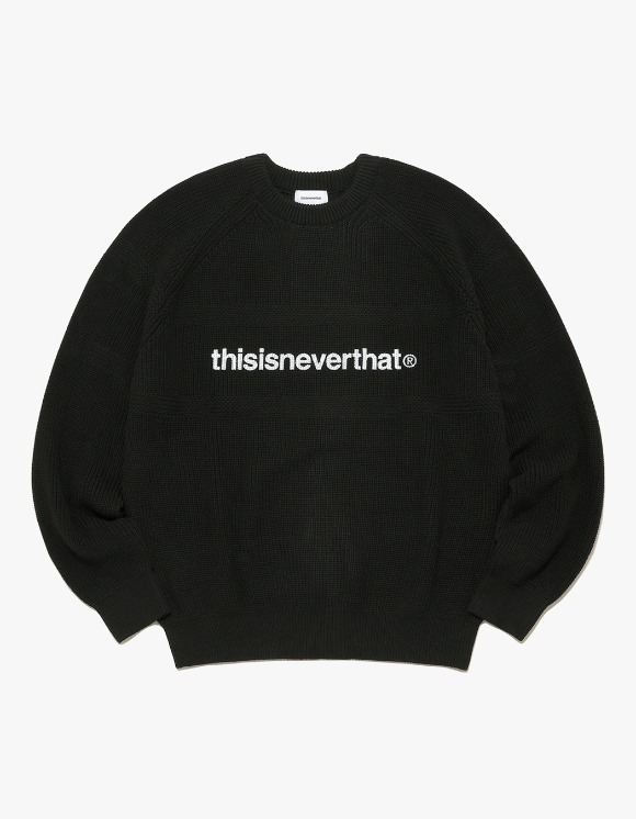 thisisneverthat T-Logo Knit Sweater - Black | HEIGHTS. | International Store