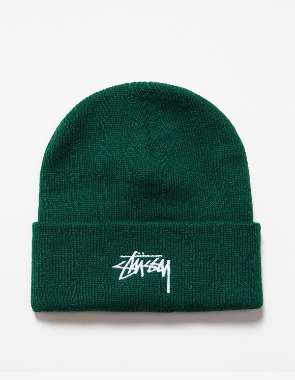 Stussy FA19 Stock Cuff Beanie - Forest | HEIGHTS. | International Store