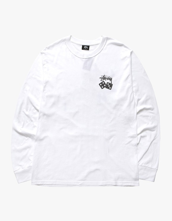 Stussy Dice Pig.Dyed LS Tee - Natural | HEIGHTS. | International Store