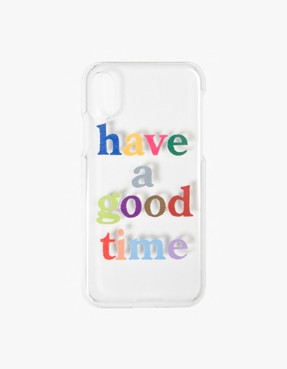 have a good time Colorful Logo Clear iPhone Case - X,XS | HEIGHTS. | International Store